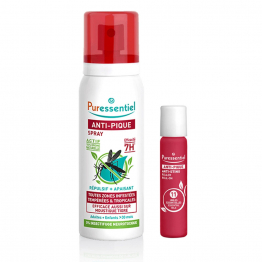 SPRAY REPULSIF ET APAISANT 75ML + ROLLER APAISANT 5ML ANTI-PIQUE PURESSENTIEL