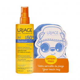SPRAY ENFANTS SPF50+ 200ML BARIESUN + 1 SERVIETTE DE PLAGE OFFERTE URIAGE