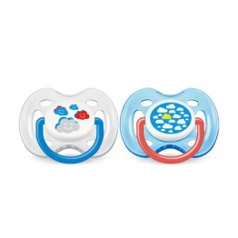 SUCETTES SILICONE ORTHODONTIQUES DECOREES 0-6 MOIS X2 AVENT