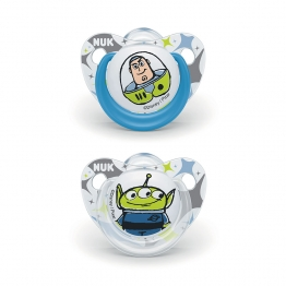 SUCETTES SILICONE TOY STORY X2 0 A 6 MOIS NUK-JESSIE + WESTERN