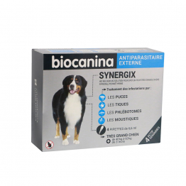 SYNERGIX ANTIPARASITAIRE EXTERNE TRES GRAND CHIEN