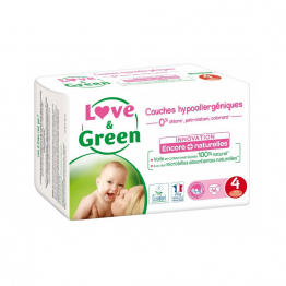 Taille 4, maxi 46 couches 7 à 14kg Love&Green