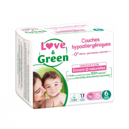 Taille 6 Extra Large 34 couches + de 15kg Love&Green