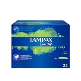 TAMPAX COMPAK SUPER TAMPONS AVEC APPLICATEUR X22