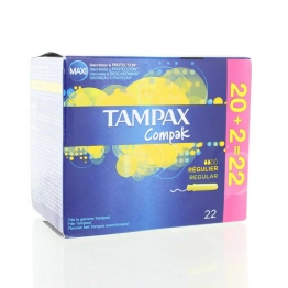 TAMPAX COMPAK TAMPONS REGULIERS X22
