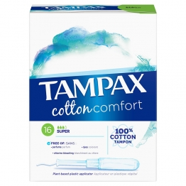 TAMPAX COTTON COMFORT SUPER X16