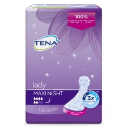TENA LADY MAXI NIGHT SERVIETTES SPECIALES NUIT X12
