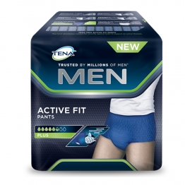 TENA MEN ACTIVE FIT PANTS SOUS VÊTEMENTS ABSORBANT TAILLE MEDIUM X9