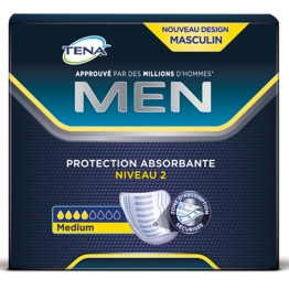 TENA MEN DISCREET PROTECTION ABSORBANTE NIVEAU 2 MEDIUM x20