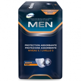 TENA MEN DISCREET PROTECTION ABSORBANTE NIVEAU 3 SUPER x16