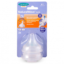 TETINE NATURAL WAVE DEBIT LENT X2 LANSINOH