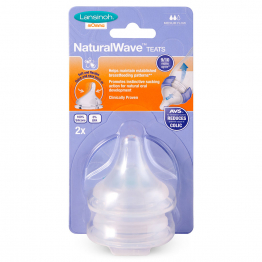 TETINE NATURAL WAVE DEBIT MOYEN X2 LANSINOH