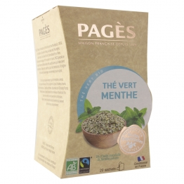 THE VERT MENTHE BIO 20 SACHETS PAGES