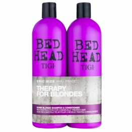 TIGI BED HEAD TWEEN DUO DUMB BLONDE SHAMPOOING + CONDITIONER APRES-SHAMPOOING POUR CHEVEUX TRAITES CHIMIQUEMENT 2X750ML