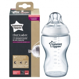 TOMMEE TIPPEE BIBERON CLOSER TO NATURE DEBIT PREPARATION EPAISSE 6 MOIS ET PLUS 340ML