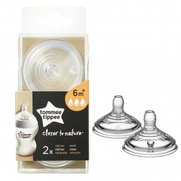 TOMMEE TIPPEE CLOSER TO NATURE TETINES DEBIT RAPIDE DES 6 MOIS X2