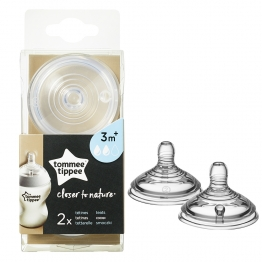 TOMMEE TIPPEE CLOSER TO NATURE TETINES DEBIT MOYEN DES 3 MOIS X2
