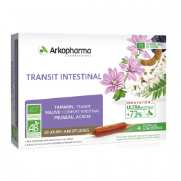 TRANSIT INTESTINAL BIO 20 AMPOULES ARKOFLUIDES ARKOPHARMA