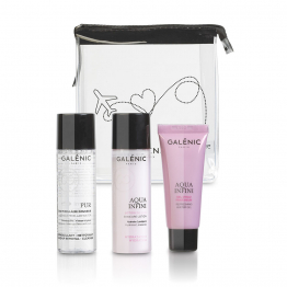 TRAVEL KIT EAU MICELLAIRE PUR 40ML + LOTION 40ML + GEL D'EAU 15ML AQUA INFINI GALENIC