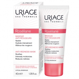 URIAGE ROSELIANE MASQUE ANTI ROUGEURS PEAUX SENSIBLES A ROUGEURS 40ML