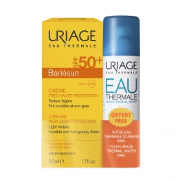 URIAGE BARIESUN CREME SOLAIRE SPF50+ 50ML + EAU THERMALE 50ML