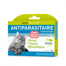 VETOFORM PIPETTE x 6 ANTI PARASITAIRE CHAT