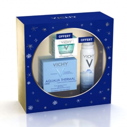 VICHY COFFRET AQUALIA RICHE EAU THERMALE 5ML + AQUALIA THERMAL HYDRATANTE 50ML + MAQUE MINERAL DESALTERANT 15ML