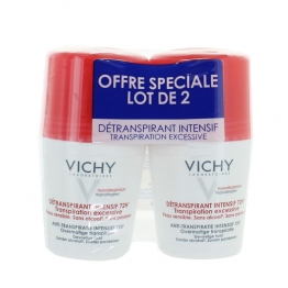 VICHY DETRANSPIRANT INTENSIF 72H TRANSPIRATION EXCESSIVE PEAUX SENSIBLES 2X50ML