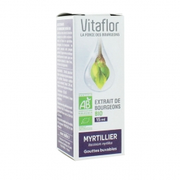 VITAFLOR EXTRAIT DE BOURGEON DE MYRTILLIER BIO 15ML
