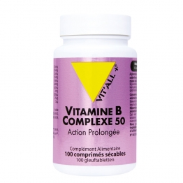 VITAMINE B COMPLEXE 50 ACTION PROLONGEE 100 COMPRIMES VIT'ALL+