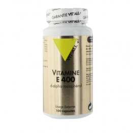 VITAMINE E 400 D-ALPHA TOCOPHEROL 100 CAPSULES VIT'ALL+