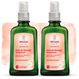 WELEDA MATERNITE HUILE DE MASSAGE VERGETURES 2X100ML
