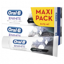 Whitening Therapy Nettoyage Intense Dentifrice 2x75ml 3D White Oral-B