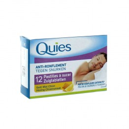 QUIES ANTI-RONFLEMENT PASTILLE A SUCER MIEL CITRON X12