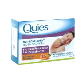 QUIES ANTI-RONFLEMENT PASTILLES A SUCER 12 PASTILLES