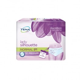 TENA SILHOUETTE NORMAL MEDIUM FUITES URINAIRES LEGERES A MODEREES x12