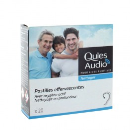 QUIES AUDIO NETTOYER PASTILLES EFFERVESCENTES X20