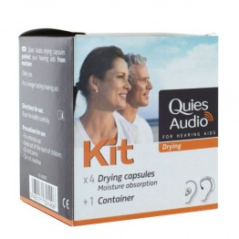 QUIES AUDIO KIT 4 CAPSULES DESHYDRATANTES + GOBELET