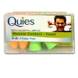 QUIES PROTECTION AUDITIVE MOUSSE CONFORT 35db 3 PAIRES
