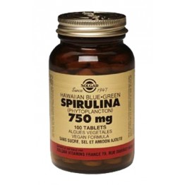 SOLGAR SPIRULINE 750MG 100 TABLETS