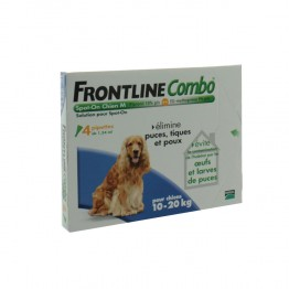 FRONTLINE COMBO SPOT-ON  CHIEN 10-20KG 4 PIPETTES
