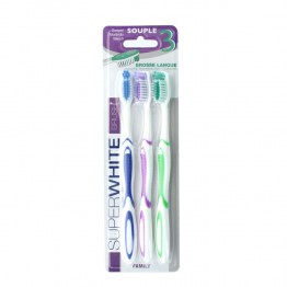 DECTRA PHARM SUPER WHITE BROSSE A DENT  SOUPLE BRUSH FAMILY X3