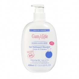 GAMARDE DERMO-SOINS BEBE GEL NETTOYANT DOUCEUR CORPS CHEVEUX 400ML