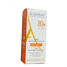 A-DERMA SOLAIRE PROTECT FLUIDE TRES HAUTE PROTECTION SPF50+ 40ML