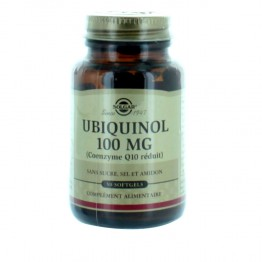 SOLGAR UBIQUINOL Q10 100 MG 50 SOFTGELS
