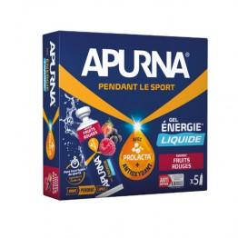APURNA GEL ENERGIE LIQUIDE FRUITS ROUGES 5X35G