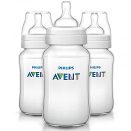 AVENT LOT BIBERONS CLASSIC+ PP TETINES SILICONE DEBIT VARIABLE 3MOIS ET PLUS 3X330 ML