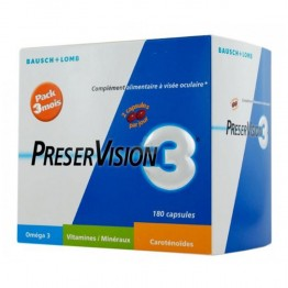 BAUSCH & LOMB PRESERVISION 3 180 CAPSULES