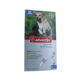 ADVANTIX GRAND CHIEN DE 25 A 40KG PIPETTES X4