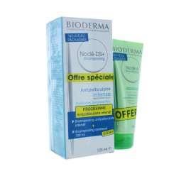 BIODERMA  NODE DS+ SHAMPOOING ANTI PELLICULAIRE INTENSE 125ML  + SHAMPOOING APAISANT 100ML OFFERT
